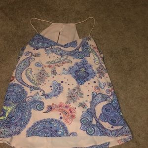 Paisley tank top from Express